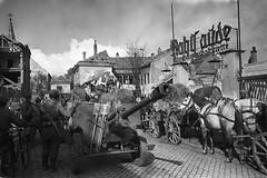 The Soviet gunners in Vienna, 1945 (Horst Veps) Tags: vienna horse canon army austria war military soviet ww2 1945 gunners soldger