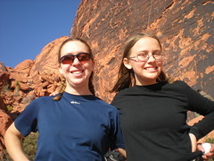 Climbergirl & Emma at Panty Wall, Red Rocks