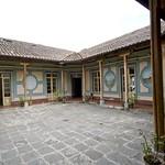 Quito: patio de una casa en el barrio de la Loma Grande