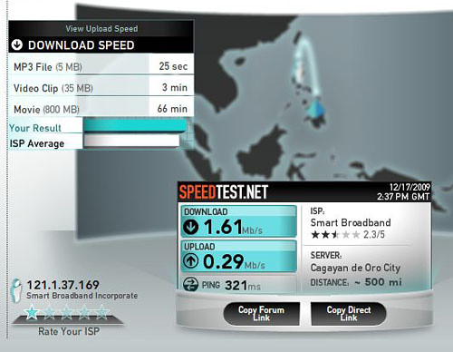 Smart Bro Share it Speed Test
