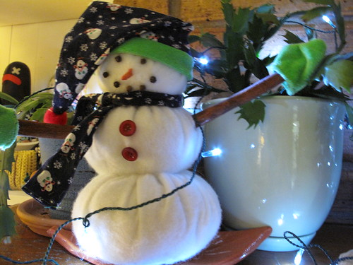 Snowman that mom made me.
