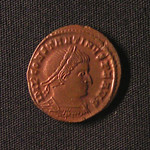 "<b>363 Obverse</b><br/> <a href=""http://en.wikipedia.org/wiki/Constantine_I"" rel=""nofollow""><u><b>Constantine I</b></u></a> <i>Reign: AD306 - 337</i> Commonly known as Constantine the Great, he is often regarded as the first Christian emperor of Rome. Constantine reversed the persecution of his predecessor Diocletian, and issued a decree of religious tolerance. Constantine also renamed the city of Byzantium ""Constantinopolis,"" which would be the capital for the Eastern Roman Empire for a thousand more years.  Donated by Dr. Orlando ""Pip"" Qualley<a href=""http://farm3.static.flickr.com/2649/4352107280_ae877cf73e_o.jpg"" title=""High res"">∝</a>"