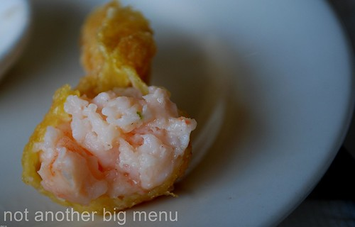 Yi Ban, Royal Docks - Deep fried prawn wantan