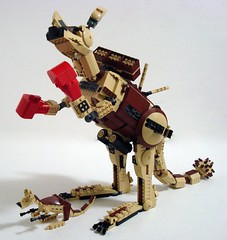 War Beast...Mecharoo! (Lino M) Tags: brown animal lego joey australian tan australia battle kangaroo boxing lino roo warbeast mecharoo