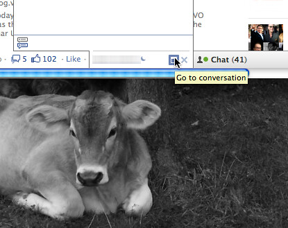 'Go to conversation' Button