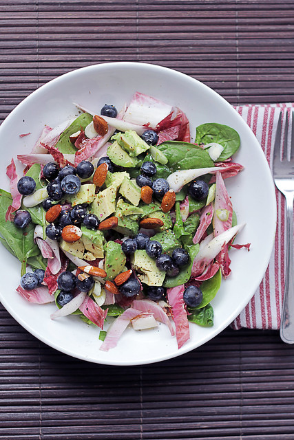 Blueberries, Avocado and Red Chicory
