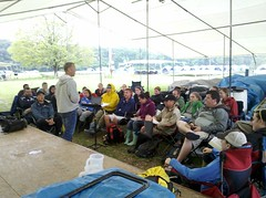 Studying John 17 (Reign Ministries) Tags: setup trainingcamp 2011 royalservants srstaff livingspringscamp