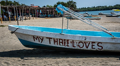 2016 - Mexico - Zihuatanejo - 3 out of 5 ? (Ted's photos - For Me & You) Tags: 2016 cropped mexico nikon nikond750 nikonfx tedmcgrath tedsphotosmexico vignetting zihuatanejo boat lagodepotosi beach sand beachsand chairs canopy shadow mythreeloves poles barradepotosi