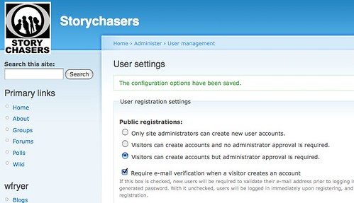 Changing user sign-up restrictions for Storychasers