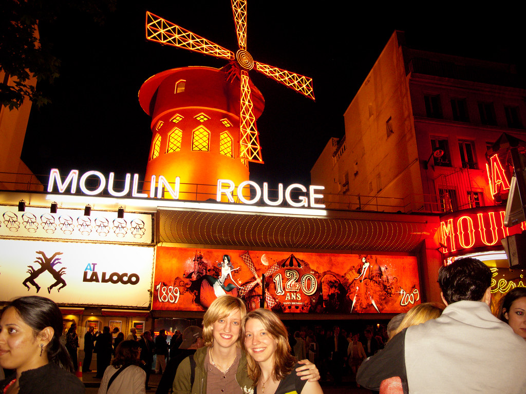 Ally & I at the Moulin Rouge