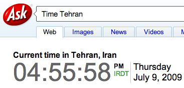 Time in Tehran Ask
