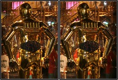 LucasFilm Exhibit, Space Center Houston, Houston, Texas 2009.07.10 (fossilmike) Tags: starwars 3d crosseye texas houston c3po spacecenterhouston