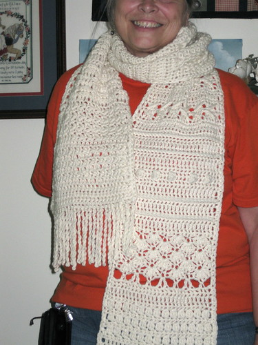 Crocheted Sampler Scarf
