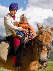 Mother and son (Evgeni Zotov) Tags: family boy people horse baby animal women asia child ride mother son nomad kyrgyz rider kyrgyzstan kirghizistan kirgistan kirgizia kirgizistan kirgizi kirgisistan  lpfamily kirguistan kirghizia krgzistan quirguisto      kadjisai kajisay kajisai kadzhisay