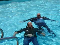SJH & JPO2 in pool (Mr. Muddy Suitman) Tags: orangecountymudruntrip