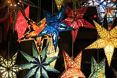 Not a 365 Photo! (*catiedid*) Tags: light summer color love stars nc bright asheville lanterns storewindow magical colorphotoaward non365