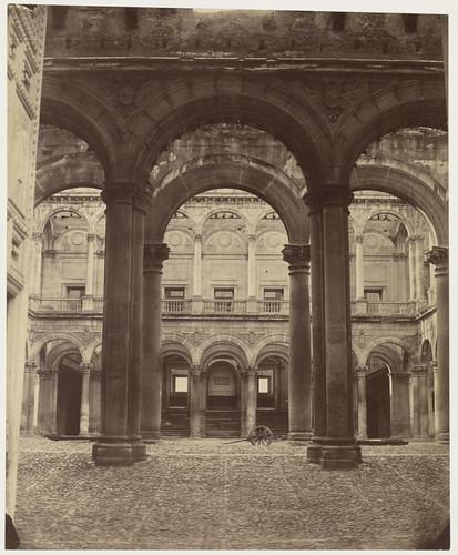Alcázar de Toledo hacia 1857. Fotografía de Charles Clifford. Boston Public Library