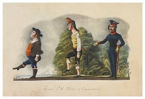 003- Reclutas de la provincia de Extremadura-Picturesque review of the costume of the portuguese 1836