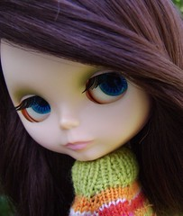 Rachel McMegipupu (Brentments) Tags: light summer pet pets art love ikea beautiful wearing shop by vintage children fun outdoors sweater rainbow rachel colorful doll dolls many lol gorgeous attack knit shelf prison wigs kenner blythe brunette lovely fabulous too 1972 darlings takara 2009 littlest sidepart mcfrizz megipupu