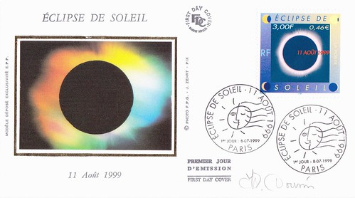 11 AOÛT 1999 / ECLIPSE TOTALE DU SOLEIL / 1er JOUR PARIS