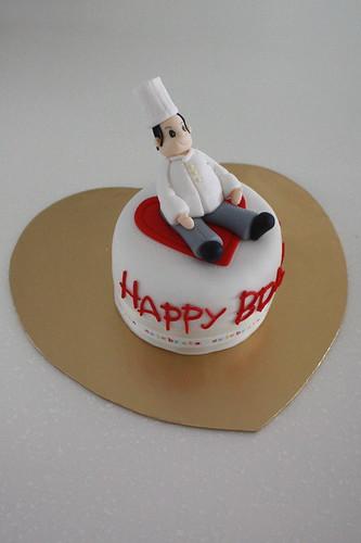 Chef on Cake
