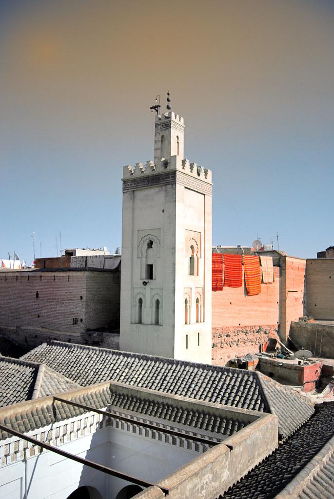 Marrakech roof top view.