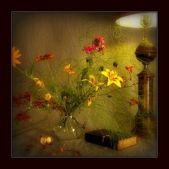 Still Life (Arunas S) Tags: flowers light stilllife flower colour art lamp square evening berry time blossom furniture antique background sony magic breath watch blossoms dream calm pot daylily bible vase flowerpot lamplight pitcher lampshade soe scripture lithuania flavour naturemorte currant lietuva palanga coth arunas sonydscr1 emaitija laikas mywinners biblija specialtouch innamoramento classicstilllife visiongroup goldcollection samogitia infinestyle natiurmortas flickrestrellas quarzoespecial thedavincitouch paololivornosfriends dragondaggerphoto dragondaggeraward saariysqualitypictures thedantecircle worldsartgallery redmatrix daarklands travelsofhomerodyssey bestofmywinners magicunicornverybest coth5 selectbestfavorites selectbestexcellence magicunicornmasterpiece obramaestra sailsevenseas sailsevenseasmaster ventasisratas