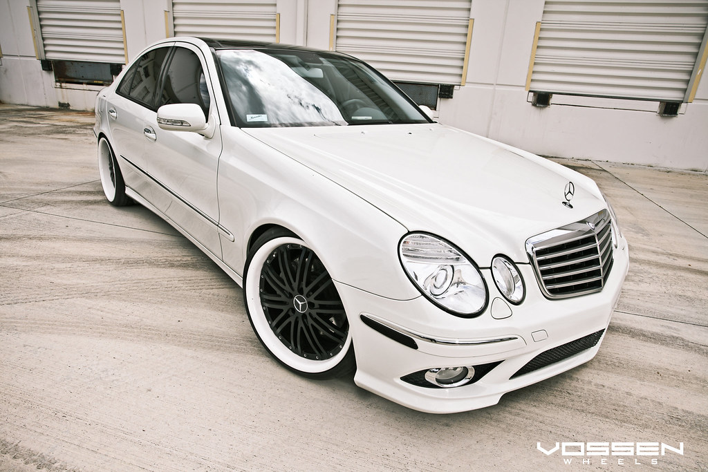Amazing White On White E350 By Vossen Wheels Lots Of
