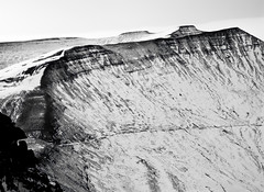 Brecon Beacons-from Fan Big (welshio) Tags: travel winter wild sky blackandwhite bw panorama snow mountains scale nature monochrome wales landscape frozen high scenery space perspective thegap landmarks panoramas scan breconbeacons hills vista romantic bleak 4x5 remote lonely welsh peaks nationalparks picturesque crags isolated penyfan snowscape pictorial romanroad valleys powys glacial wintery cambo cribyn 5x4camera agfachrome naturallandscapes corndu fromhigh cribben romanroads britishlandscapes welshlandscapes cwmgwdi classicviews mountainsociety