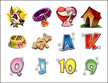 free K9 Capers slot game symbols