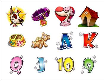 free K9 Capers slot game symbols