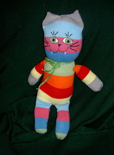 Striped Sock Cat by barbshillinger.
