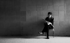 Newshound (JTContinental) Tags: china street light shadow urban blackandwhite newspaper shanghai empty hero winner isolation bigmomma matchpoint challengeyouwinner thechallengefactory jtcontinental pfohalloffame thepinnaclehof tphofweek111 t475