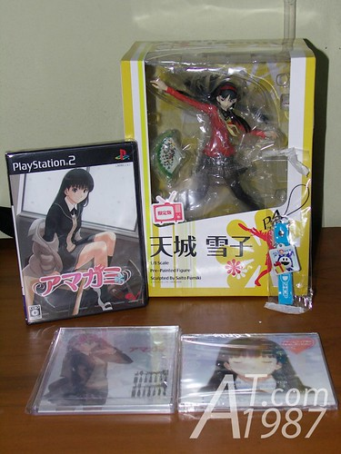 Amagami Amazon Japan package & P4 Amagi Yukiko figure