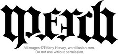 """Merch"" Ambigram"