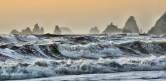 Rialto Beach waves with stacks, Forks area, Washington State (Don Briggs) Tags: ocean rocks waves pacificocean pacificnorthwest rialtobeach nikon18200lens donbriggs nikond5000 flipdownlcd forksareawashingtonstate