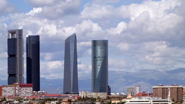 Torre Repsol, Torre Sacyr Vallehermoso, Torre de Cristal and Torre Espacio