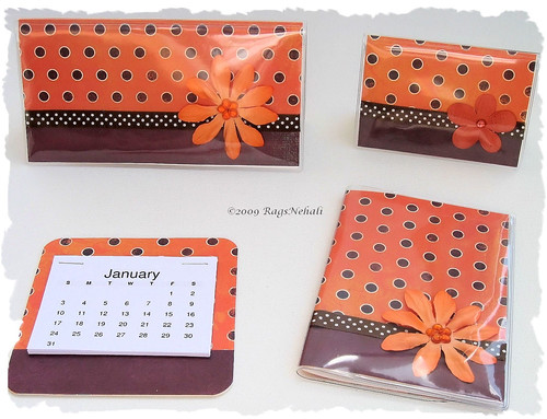 Orange Brown gift set