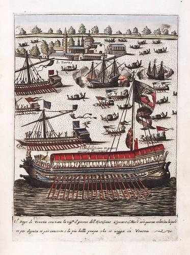 019-Cortejo del Dux y notables de Venecia el dia de la Ascension-Habiti d'hvomeni et donne venetiane 1609