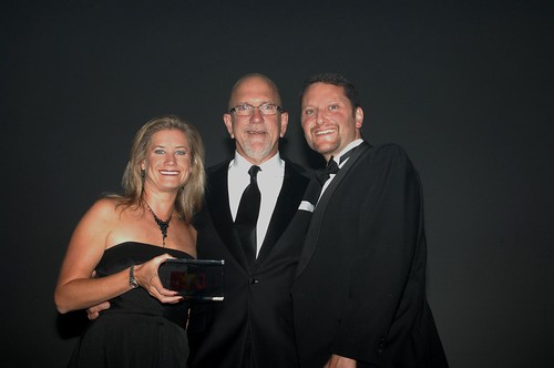 Receiving our award from the publisher