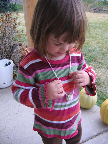 Peelu and her sweet lil' acorn