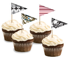 Custom Cupcake Flags
