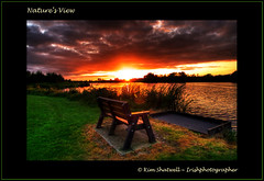Nature's view (Irishphotographer) Tags: ireland sunset sun lake beach dawn view dusk seat shoreline shore walkingthedog kinkade beautifulireland irishphotographer imagesofireland naturesview kimshatwell breathtakingphotosofnature beautifulirelandcalander wwwdoublevisionimageswebscom