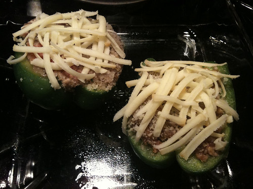 Stuffed Bell Peppers - Prior to Baking