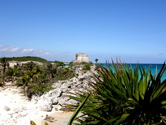 From Sea to Sand (MagicMan!!) Tags: world travel sky building history nature mexico temple ruin culture ground we mayan tatum bigfav