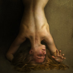 an imitation of form (brookeshaden) Tags: selfportrait death back head backwards form veins reach twisted imitation grasp brookeshaden