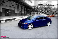 shoppped (jwoo28) Tags: blue race photoshop neon edited si fast civic civicsi srt4 lysandra wickedhonduhh