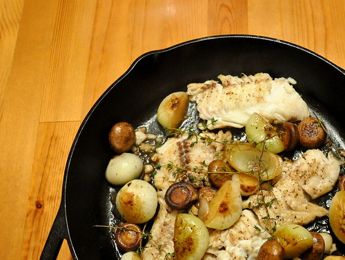 Cast Iron Skillet-Seared Cod with Mushrooms | Turntable Kitchen