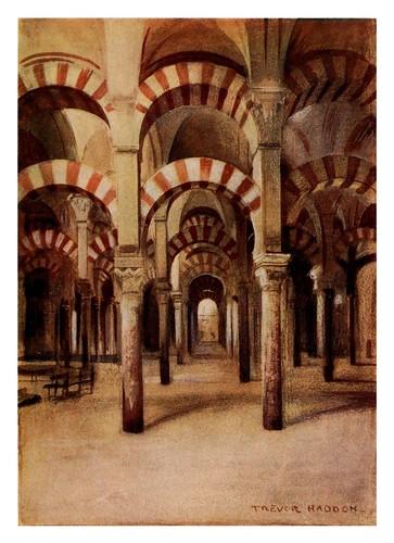 018-Córdoba-Interior de la Mezquita-Southern Spain 1908- Trevor Haddon