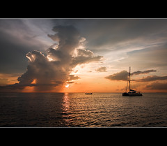 At the end of the day...... (Reedy Photography) Tags: sunset clouds phiphi longtailboat andamansea canon1022mm yaucht reedyphotography